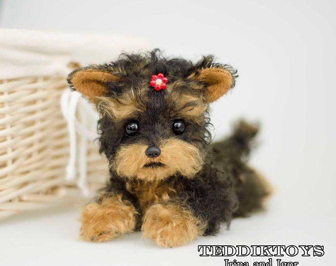 Puppy York Jemmy Make To Order Portrait Pet Handmade Animal By Photo Realistic Stuffed Dog Yorkshire Terrier Yorkie Yorkshire Terrier