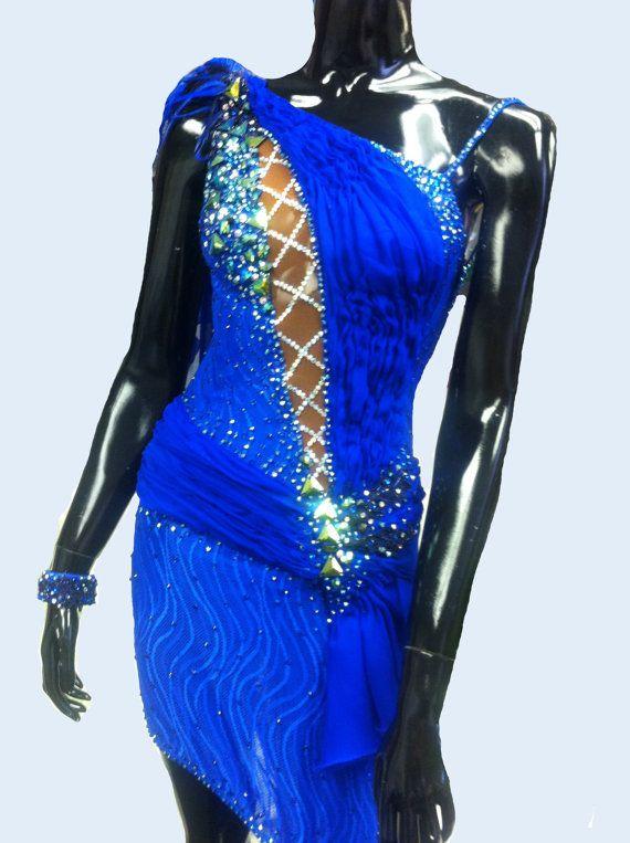 Royal Blue Dance Latin Dress by DesignByNatasha on Etsy, $1199.00