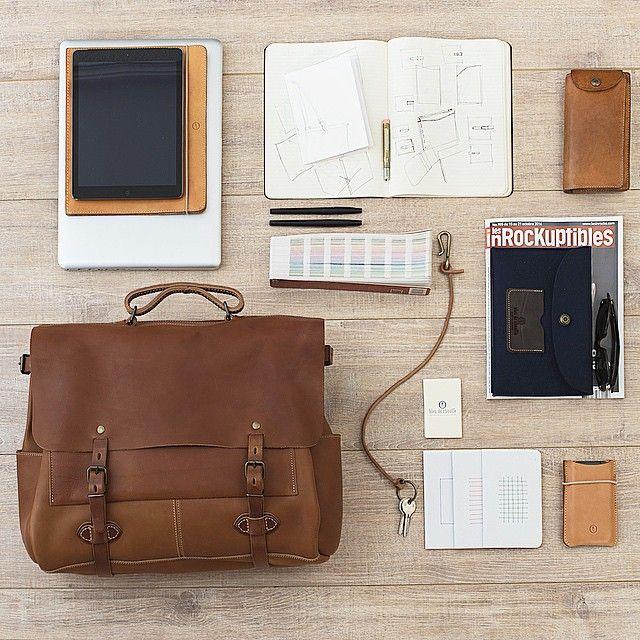 Bleu de Chauffe, Irving bag #Irving #bag #leather #mensbag #leathergoods #madeinfrance