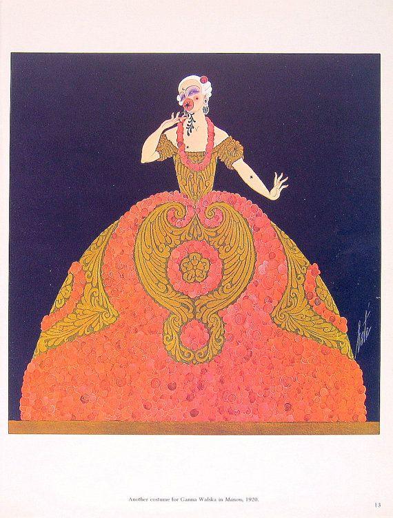 Erte Prints | Erte Print - Opera Costumes Erte Theatrical Costumes - 2 Sided Book ...