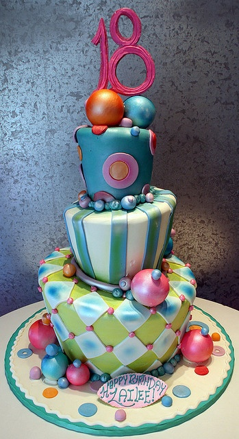 Not exactly for me, but I like the tipsy turvy-ness of the cake