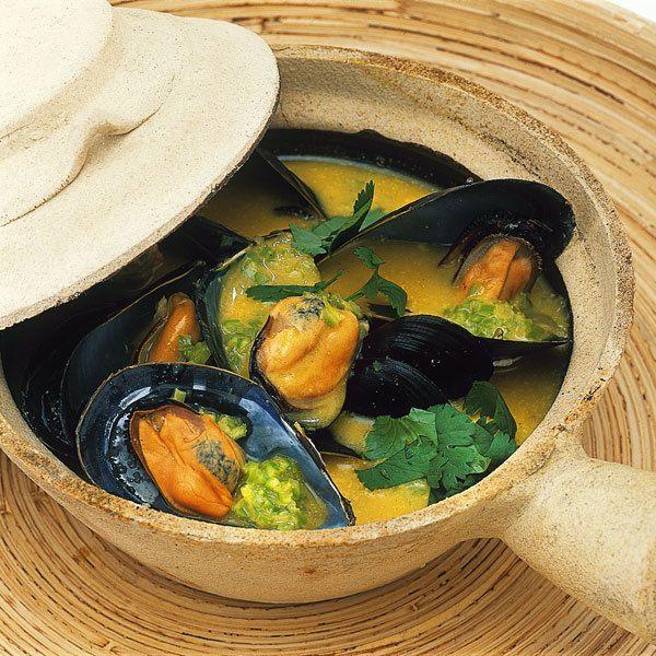 Rezept für Muscheln in Kokossauce