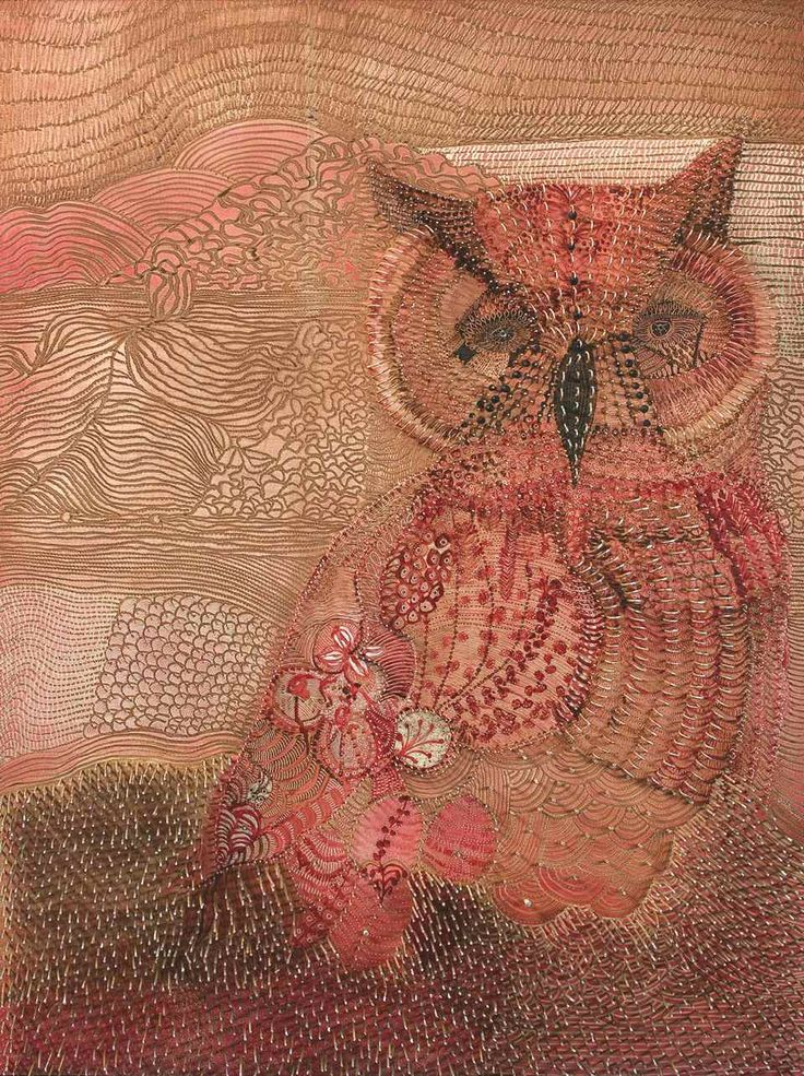 Joshua Yeldham, Owl of Guidance, 2010, oil on carved board with cane 12.00 x 91.00 cm