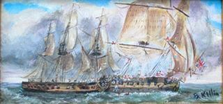 marine painting briankillinart war of 1812