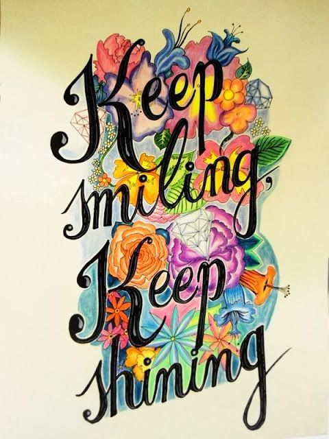 Keep Smiling Keep Shining   Anonymous ART of Revolution