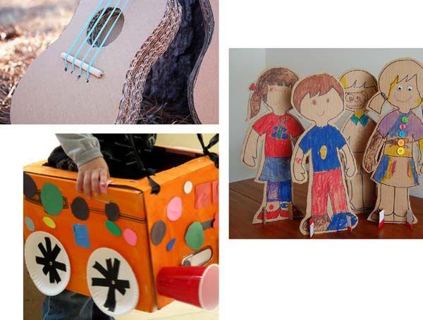 5 cardboard box crafts for children