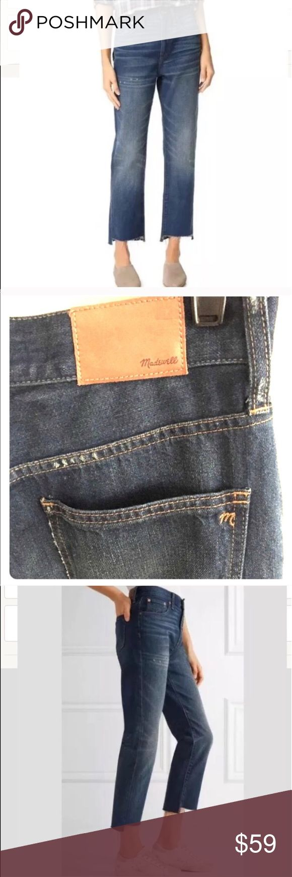 ⭐️ Madewell The Perfect Vintage Jean New A '90s-chic high rise and frayed step hems define vintage-inspired jeans cut with a cool relaxed fit.  MSRP $128   Can be used with the frayed hem (as pictured) or can be fold up.   -back rise  - Zip fly with button closure  - Five-pocket style  - 100% cotton Madewell Jeans