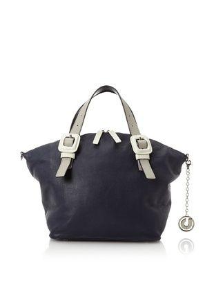 67% OFF Charles Jourdan Women's Jinx Satchel, Navy Leather
