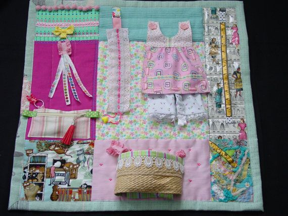 Busy Sewing Lady - Fidget Quilt - Sensory - Activity Quilt