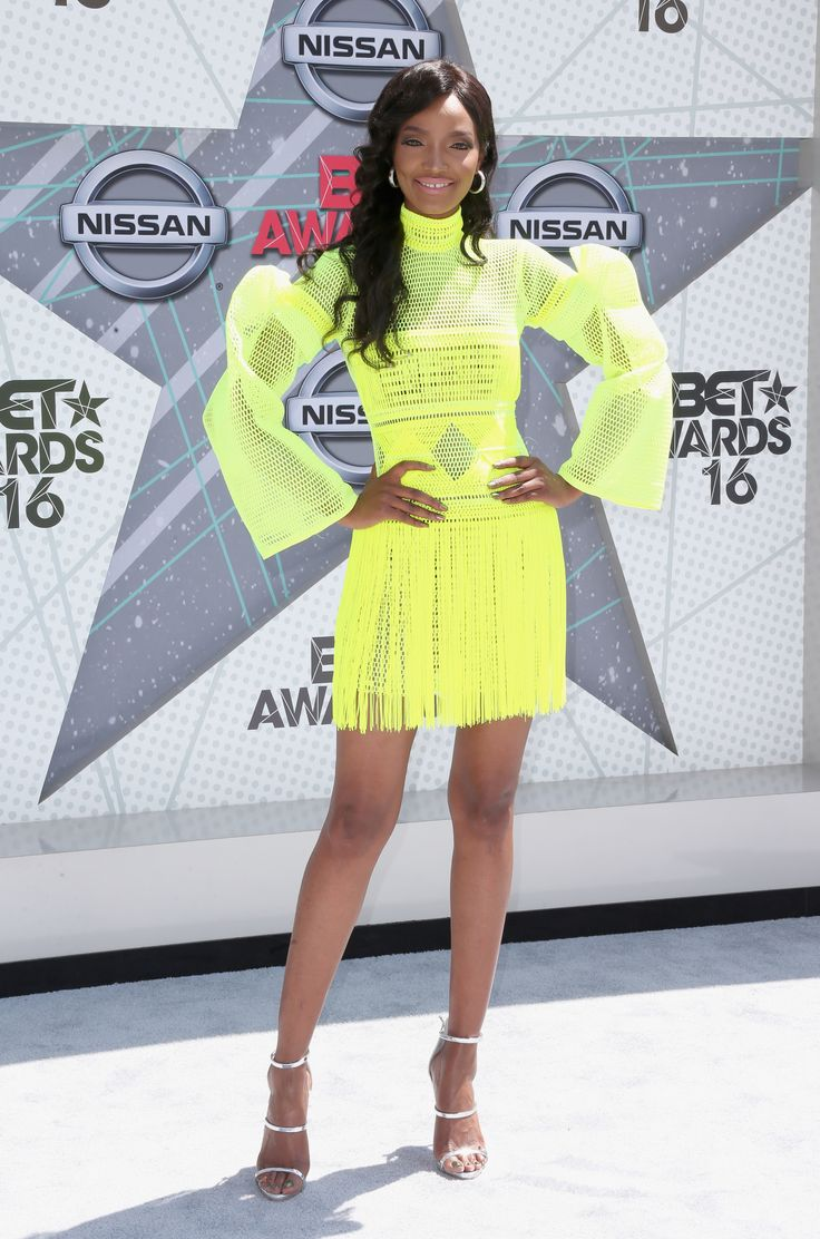 Millen Magese  (Photo by Frederick M. Brown/Getty Images) via @AOL_Lifestyle Read more: http://m.aol.com/article/2016/06/26/2016-bet-award-red-carpet-arrivals-sizzle-with-scandalous-styles/21419386/?a_dgi=aolshare_pinterest#fullscreen