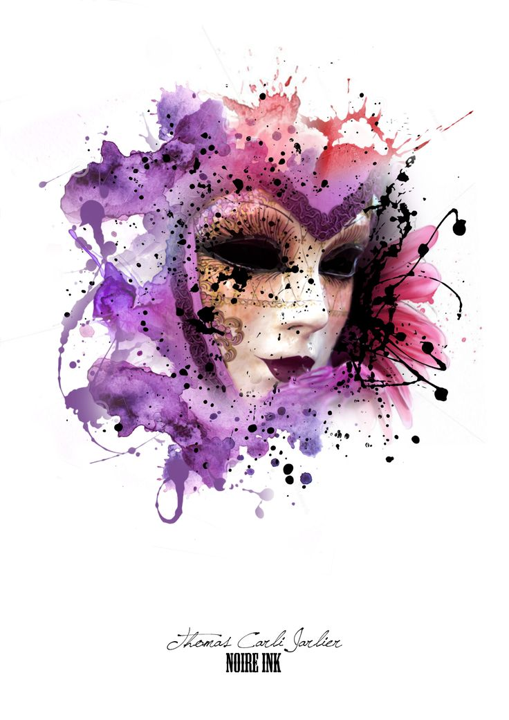 venetian mask watercolour - Google Search
