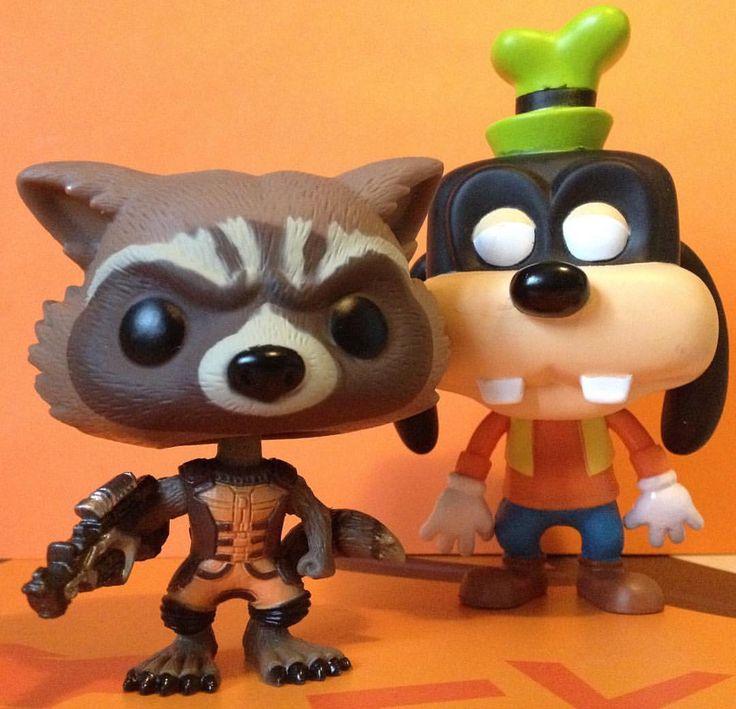 il mio eroe pippo - goofy goof - pippo de pippis - funko - rocket racoon