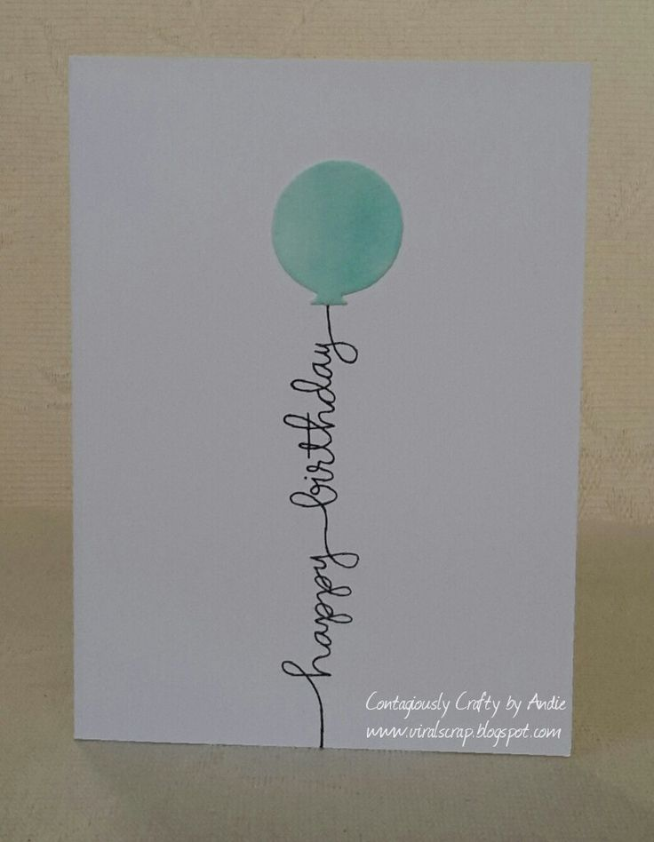 Contagiously Crafty - Simple birthday cards with Avery Elle Balloons dies and SSS Handwritten Borders sentiment