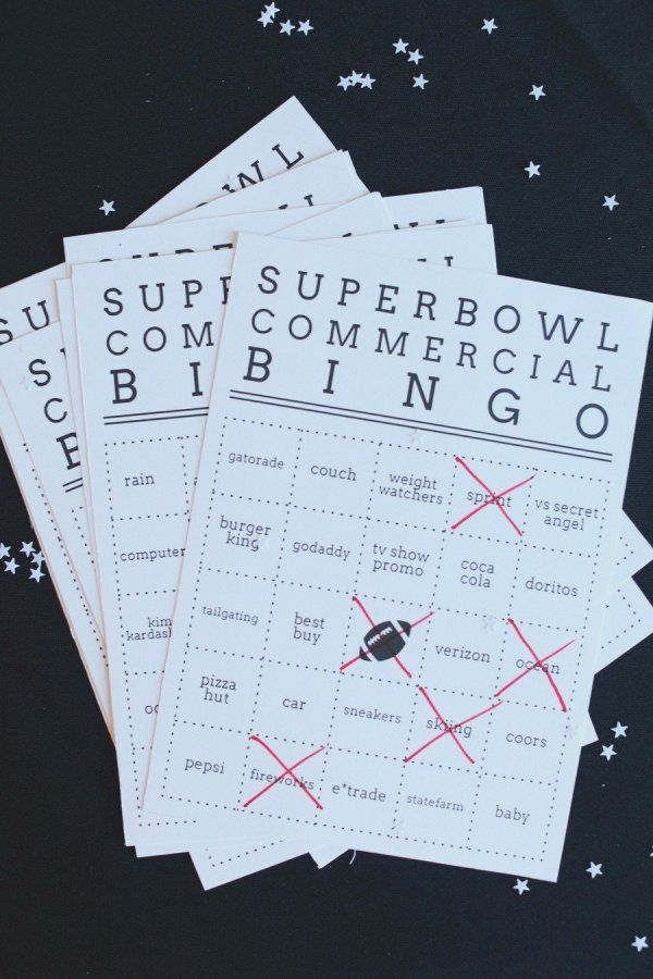 Super Bowl commercial bingo: http://www.stylemepretty.com/living/2014/01/23/super-bowl-party-ideas-done-right/ Photography: Hello Love - http://www.hellolovephoto.com/