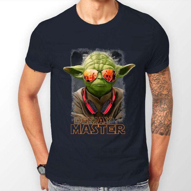 Star Wars Yoda DJ Mens Navy Blue T-Shirt Small - 2XL