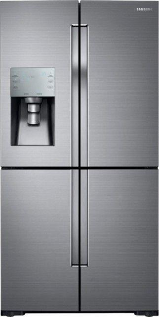 samsung tv refrigerator. samsung - 28.1 cu. ft. 4-door flex french door refrigerator stainless steel tv