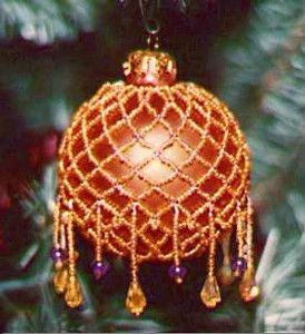 Victorian Beaded Christmas Tree Ornament | Sophisticated ornaments for your tree!