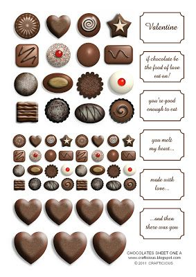 crafticious: 'Valentine Chocolates' - Free Downloads