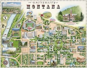University of Montana Campus Map