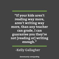 Thoughts on grading Kelly Gallagher's article of the week (AoW) assignment.