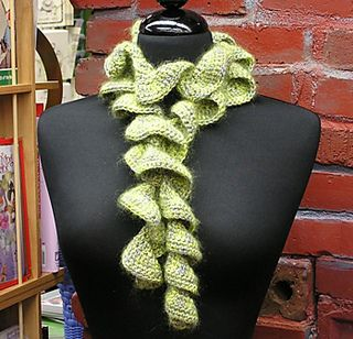 Ruffled Scarf - Crochet this fun, very ruffly scarf for warmth and fashion!