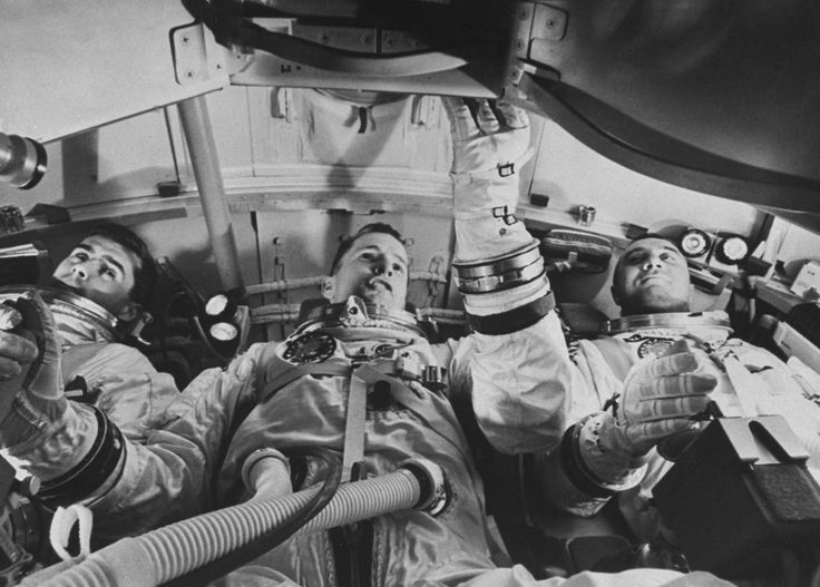 Apollo 1 astronauts Roger Chaffee, Ed White and Gus Grissom, 1967. Ralph Morse—The LIFE Picture Collection/Getty Images