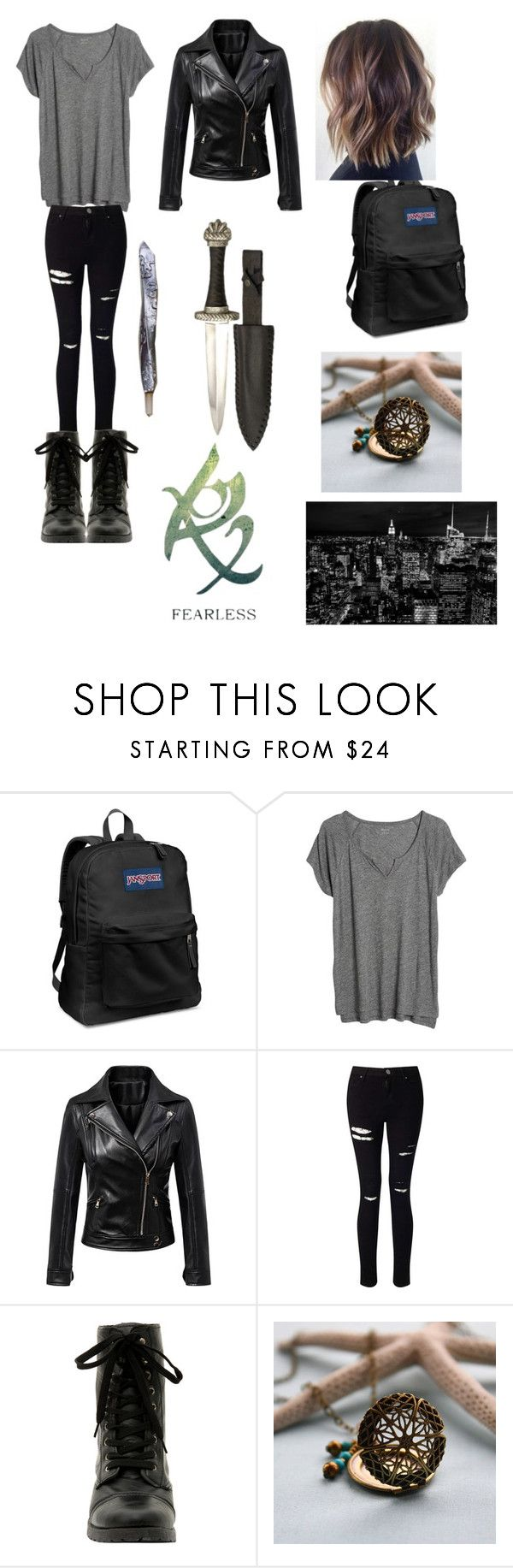 """Shadowhunters"" by rachellcardenas on Polyvore featuring JanSport, Madewell, WithChic, Miss Selfridge, Hot Topic, MARA and Rune NYC"
