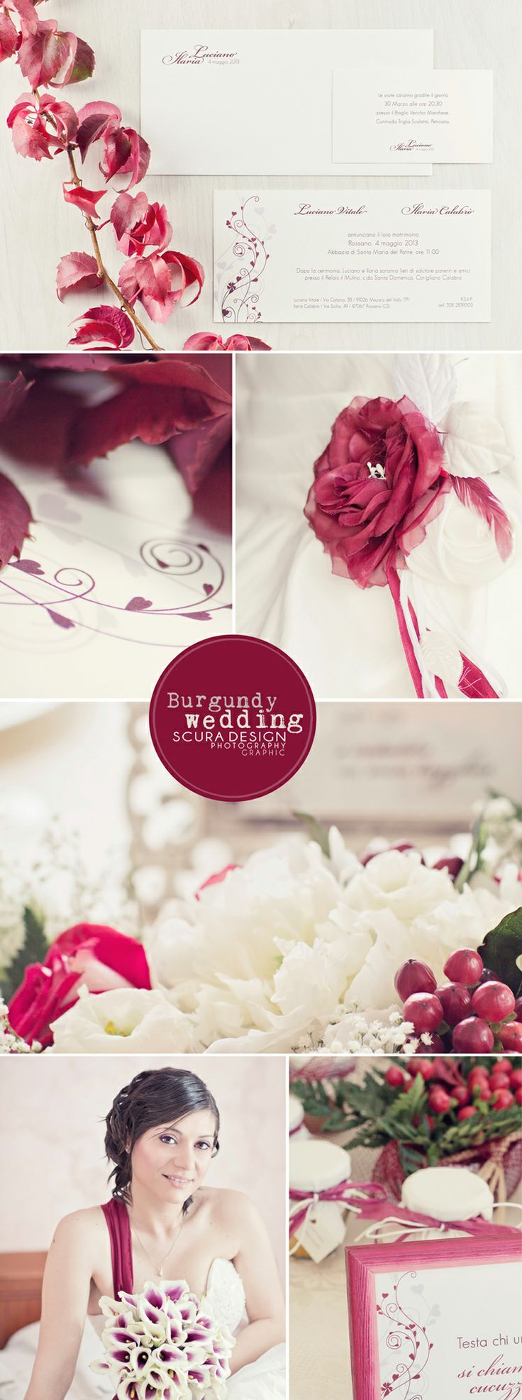 burgundy #wedding. Photo & Graphic © Scura Design