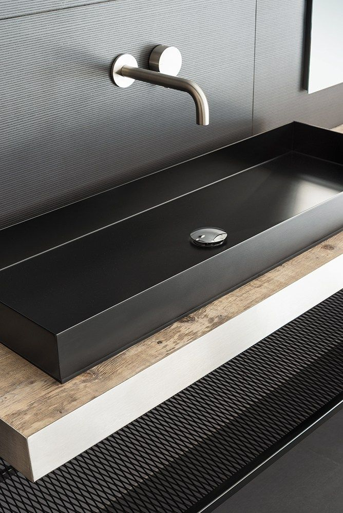 Countertop rectangular washbasin ILA100 | Rectangular washbasin by Moab 80