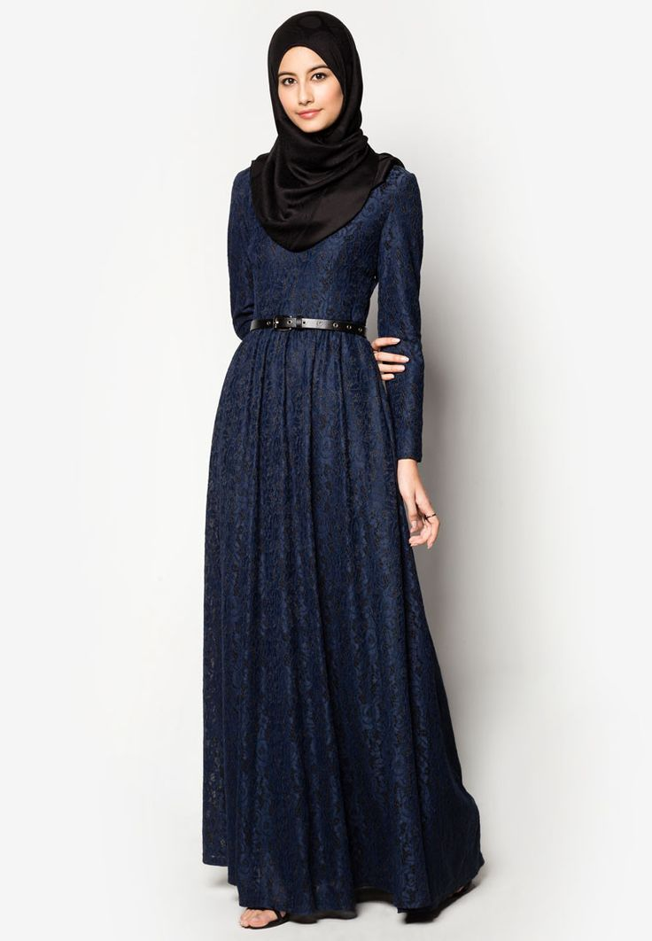 Zalia Lace Fit and Flare Dress / Hijab needs to have more coverage. / Probably only available for Southeast Asian countries like Singapore, Malaysia, Brunei and Indonesia. Check respective stores. | ZALORA Singapore