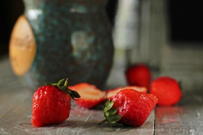Strawberry - belajar Food photography