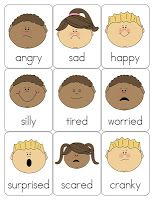 Preschool-Pre K, My Feelings Theme, great printed and laminated on the wall for a quiet area to talk about feelings