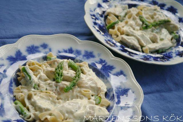 MÅRTENSSONS KÖK: Pastasås med kyckling och sparris