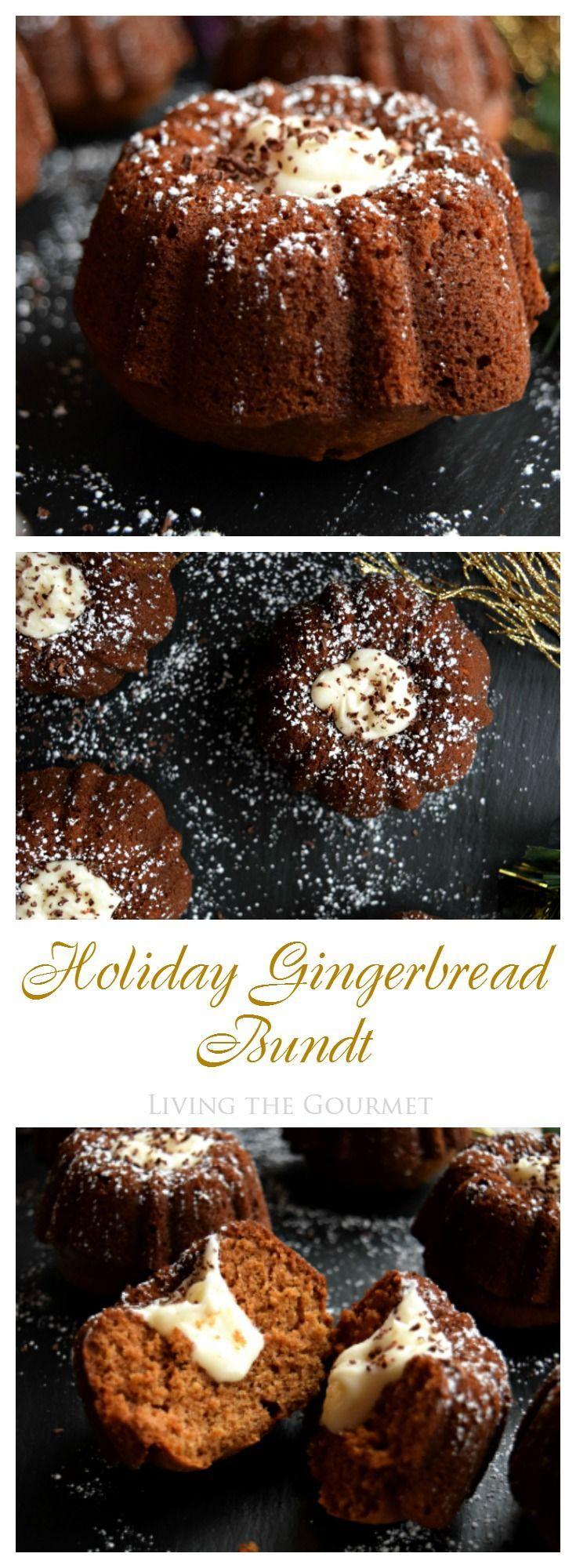Living the Gourmet: Holiday Gingerbread Bundt | #BundtBakers