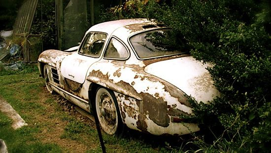 300SL Gullwing long past forgotten. Sad really this one of the most beautiful forms of art in the auto industry in my opinion.