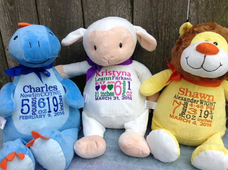 446 best personalized baby gifts images on pinterest so many adorable personalized plush pets to choose from https negle Choice Image