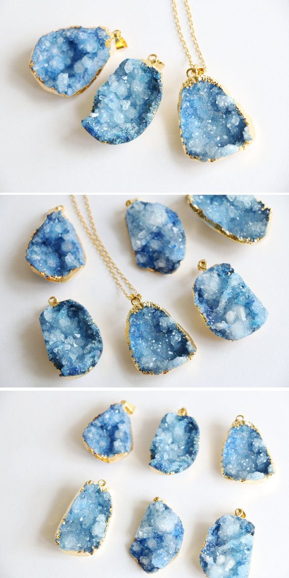 Hey, I found this really awesome Etsy listing at https://www.etsy.com/au/listing/202294561/raw-crystal-necklace-druzy-necklace-raw