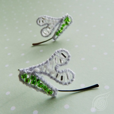 earrings Snowdrop; nycrame; by Nady