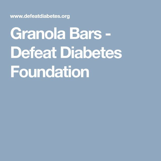 Granola Bars - Defeat Diabetes Foundation
