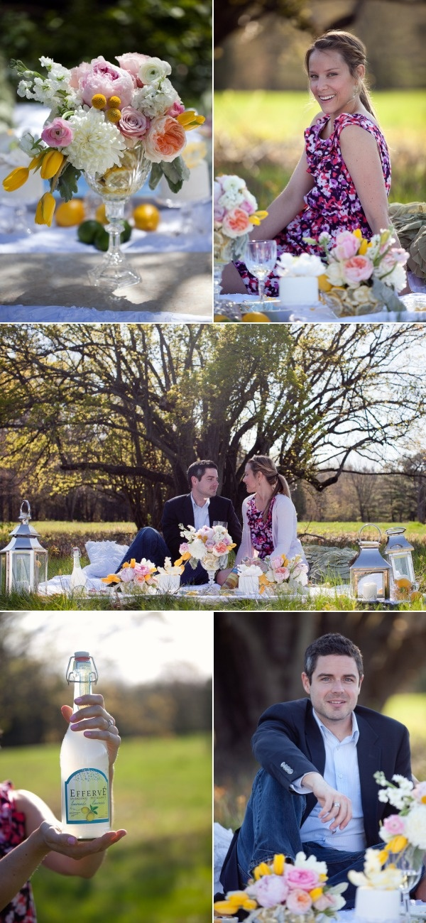 Ottawa Spring Picnic Engagement Session by Melanie Rebane Photography | Style Me Pretty