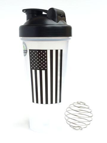 The American Bottle Black U.S. Flag Mettle Force Blender Bottle/Shaker Cup #gotMettle #militarymuscle
