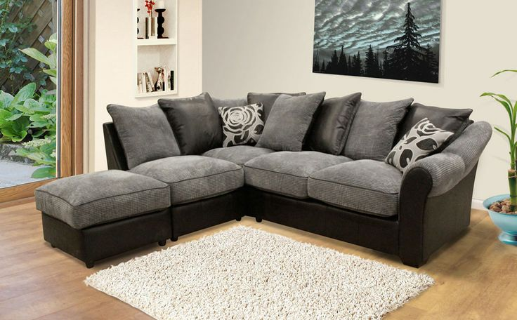 This Contemporary Fabric Corner Sofa At Furniture Choice Will Suit A Modern Room Shown In Charcoal From The Elegance Range Furniturec