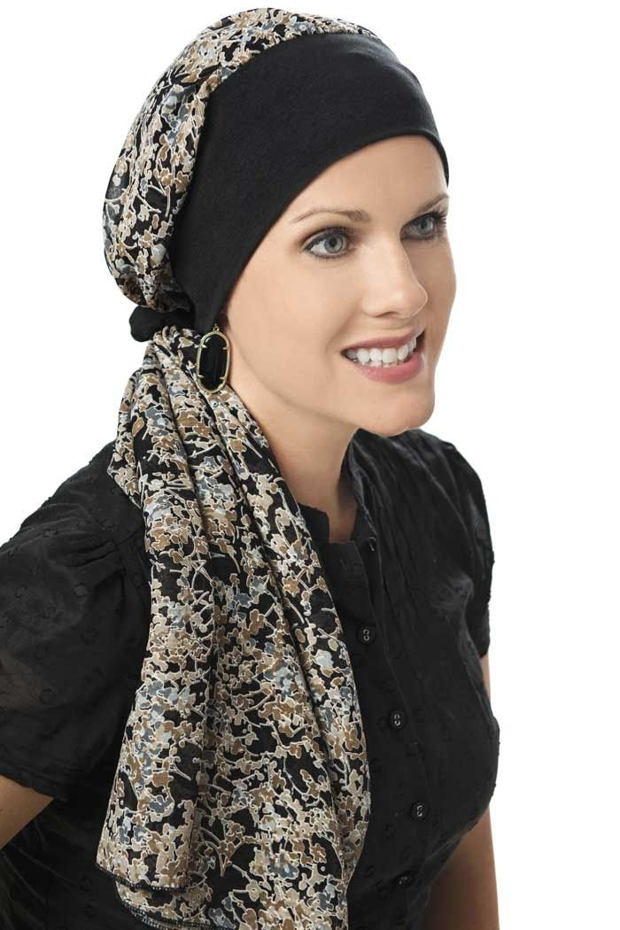 Melanie Pre-tied head scarf - head coverings for cancer patients