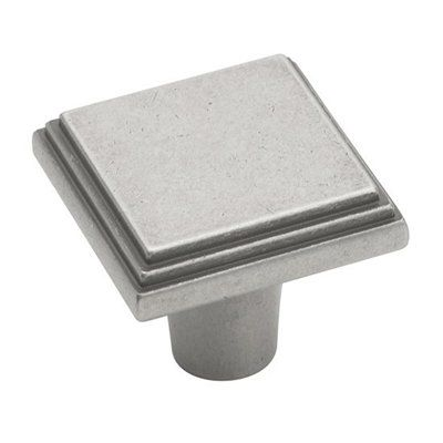 Possible knob for bathroom cabinets.