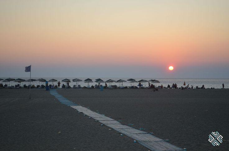 Sunset on Falassarna Beach in Chania, Crete #crete #chania #sunset #beaches #passionforgreece