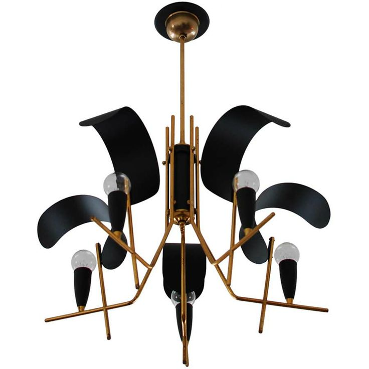 stilux chandelier - italy - -height: 19 in. cm) diameter: 22 in. cm) -  Finish: Painted aluminum and brass drop: - via the collection los angeles,  ref. - 74 Best Vintage Pendants & Chandeliers Images On Pinterest