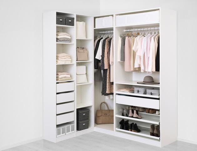 160 188 X 236 Cm Ikea Fitted Corner Wardrobe Corner Wardrobe