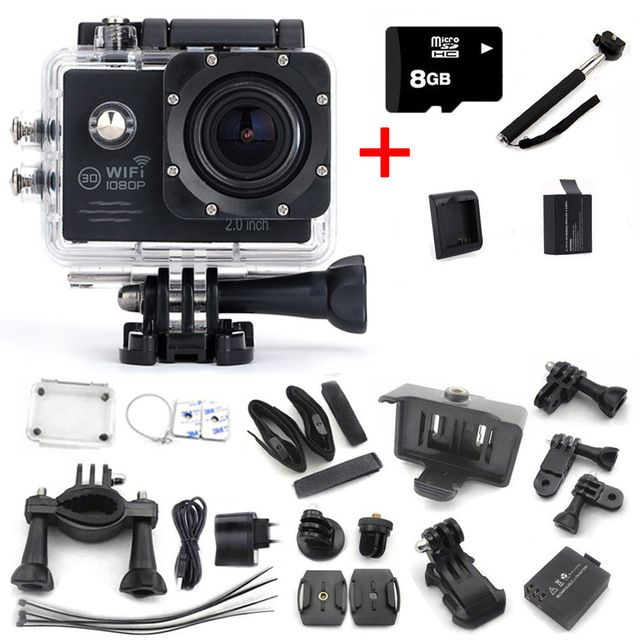 "Action Camera SJ7000 Wifi 2.0 LTPS LED mini cam 1080P HD DV Go pro style two batteries + Battery charger + monopod+8GB card US $52.99 /piece Specifics Additional Function 	Support WIFI is_customized 	Yes Screen Size 	2.0"" High Definition Support 	1080P (Full-HD)  Click to Buy:http://goo.gl/Ld8Y6A"
