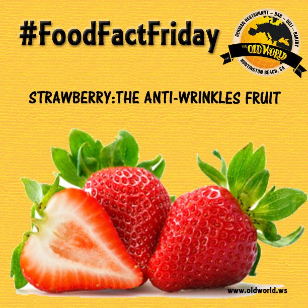 It's #foodfactfriday! Did you know that Strawberries are an ANTI-WRINKLES fruit, regulate blood pressure and lower cholesterol?! Nutrient-rich and packed with antioxidants (like vitamin C), strawberries offer a wide range of health benefits! Try some in the strawberry melon salad @Oldworldhb ! CHECK US OUT! ❤ ❤ ❤ #oldworldhb #oldworld #hb #ca #huntingtonbeach #california #ocfood #ocfoodie #foodlover #goodfood #ocfoodplaces #bestocfood #foodfacts #fridays #fotd #healthyfoods #healthyeating…