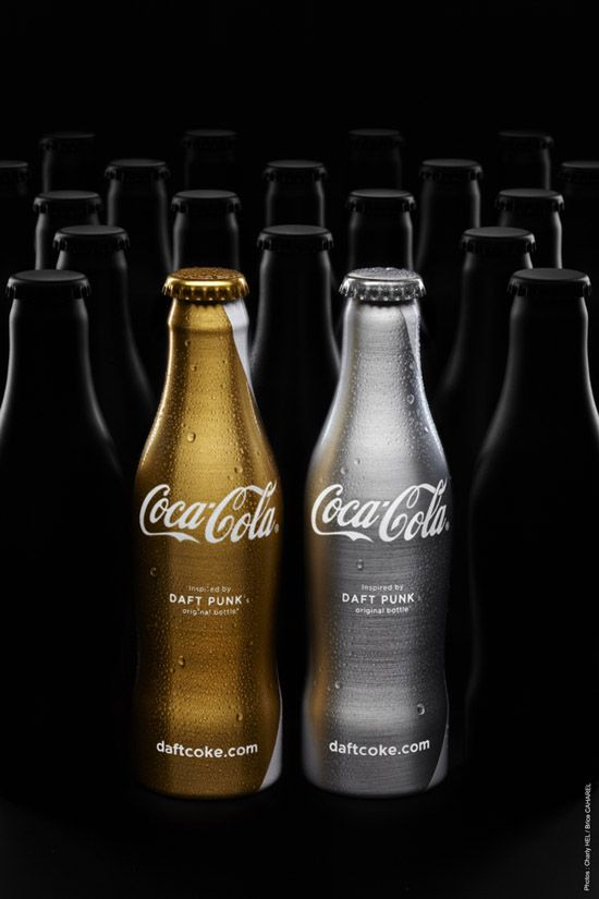 Coca Cola limited edition bottles inspired by Daft Punk #packaging